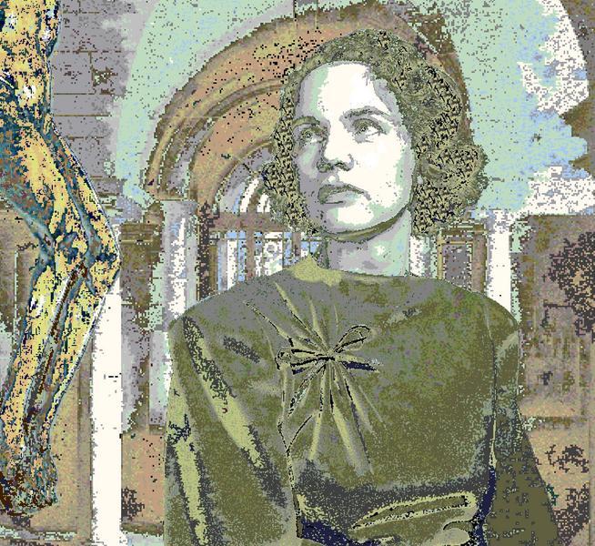 Suzanne dans la crypte