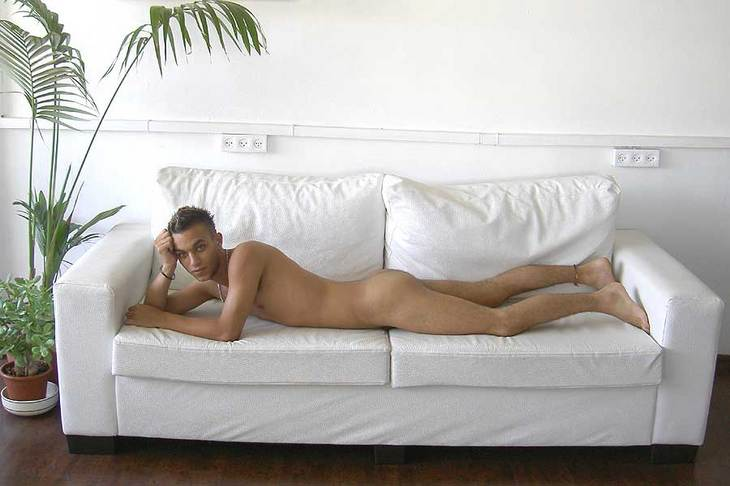 naked male model on raphael perez studio man nude art