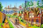naive art paintings by raphael perez primitive painting