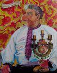 Huculski Przodek Johanson z Kolomya, painting
