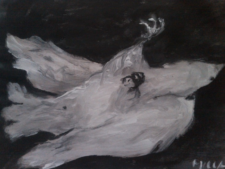 sterbende Taube