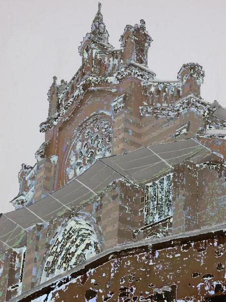 la cathédrale de Digne sous la neige