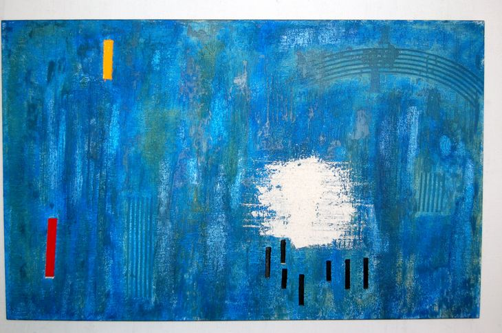 DSC_0004 Painting, mixed media on canvas, 2011,85 x 136 x 5 cm