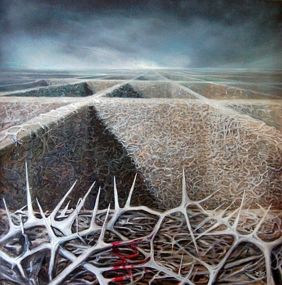 Dornen für den Picadero, Öl auf Leinwand, 70 x 70 cm, 2012 web96