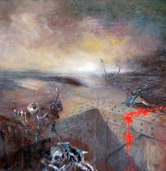 Das Blut des Matadors, Öl auf Leinwand, 70 x70 cm, 2012 web150 c